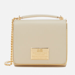 Love Moschino Women's Gold Plate Small Cross Body Bag - Ivory