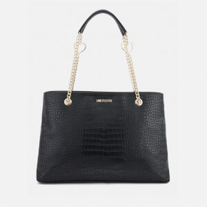 Love Moschino Women's Croc Shopper Tote Bag - Black