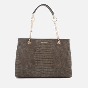 Love Moschino Women's Croc Shopper Tote Bag - Grey