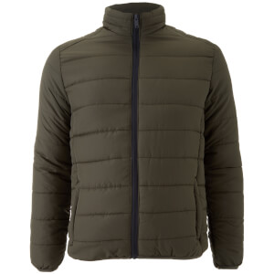 Brave Soul Men's Moritz Padded Jacket - Khaki