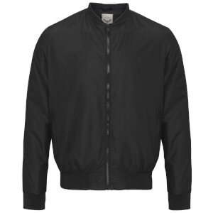 Brave Soul Men's Sanjay Padded Bomber Jacket - Black