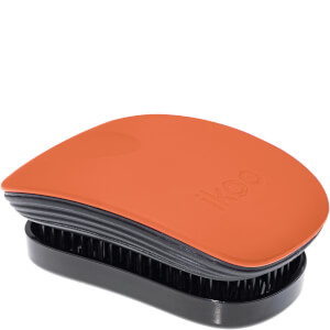 ikoo Pocket Hair Brush - Black - Orange Blossom