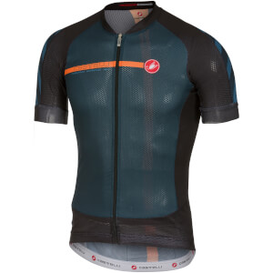 Castelli Aero Race 5.1 Jersey - Midnight Navy/Orange