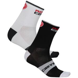 Castelli RoSso Corsa 13 Socks - White