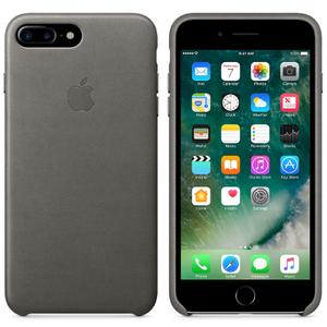 Étui en Cuir pour iPhone 7 Plus -Gris Tempête