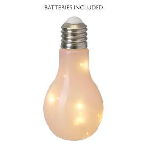 Lampe Pression Ampoule Verre Rose - Parlane (13 x 8.5cm)