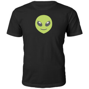 Emoji Unisex Alien Face T-Shirt - Black