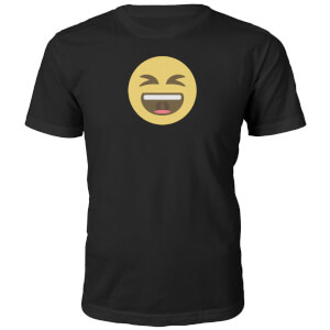 Emoji Unisex Lol Face T-Shirt - Black