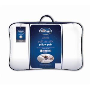 Silentnight Luxury Soft As Silk Pillow - 2 Pack