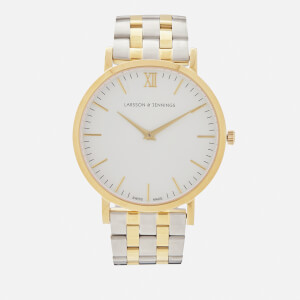 Larsson & Jennings Lugano 40mm 5 Link Watch - Gold/White
