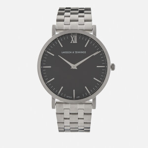 Larsson & Jennings Lugano 40mm 5 Link Watch - Silver/Black