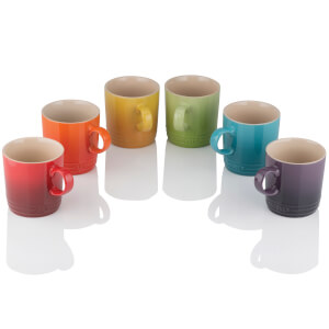 Le Creuset Stoneware Rainbow Mugs (Set of 6)