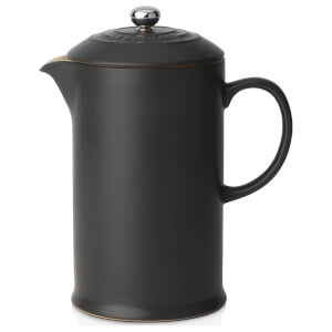 Le Creuset Stoneware Cafetiere Coffee Press - Satin Black