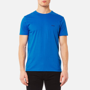 BOSS Green Men's Small Logo T-Shirt - Victoria Blue