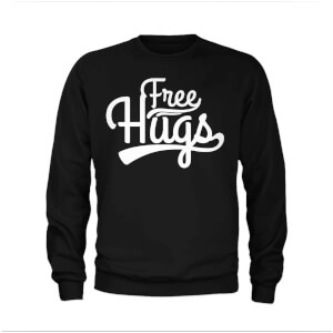 Free Hugs Slogan Sweatshirt - Black