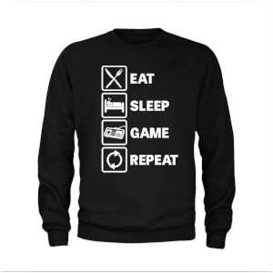 Sweat Eat Sleep Game Repeat - Noir