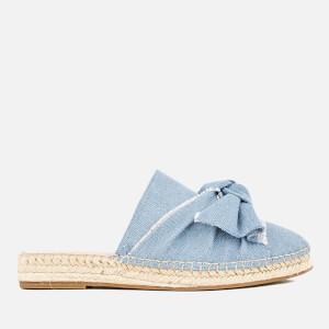 KG Kurt Geiger Women's Niamh Denim Mule Espadrille Sandals - Blue