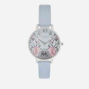 Olivia Burton Women's Enchanted Garden Watch - Chalk Blue/Silver