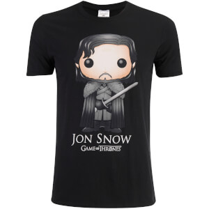 T-Shirt Game of Thrones Jon Snow Funko - Noir