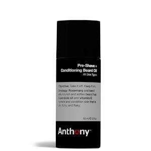 Aceite para barba acondicionador para antes del afeitado de Anthony (59 ml)