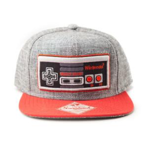 Nintendo NES Controller Linen Snapback Cap - Grey