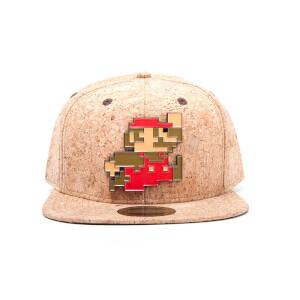 Nintendo Super Mario Super Mario Metal Pixel Snapback Cap - Cork