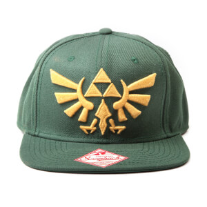Nintendo The Legend of Zelda Twilight Princess Snapback Cap with Golden Triforce Logo - Green