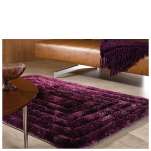 Flair Verge Ridge Rug - Aubergine