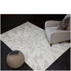 Flair Alpaca Suri Rug - White