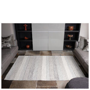 Flair Textures Weave Rug - Natural/Grey