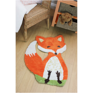 Flair Plush Animals Rug - Freddie Fox Orange (60X90)