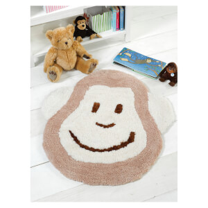 Flair Nursery Cheeky Monkey Rug - Natural (75X80)