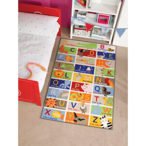 Flair Matrix Kiddy Rug - Abc Multi (100X160)