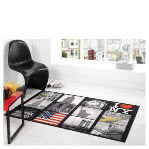 Flair Matrix Themes Rug - Big Apple Multi (100X160)