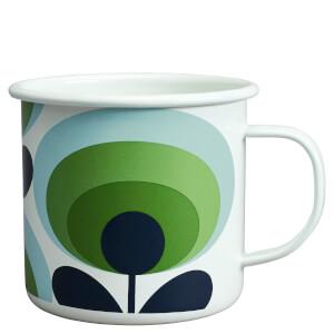 Orla Kiely Enamel Mug 70's Flower - Apple