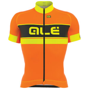 Alé Graphics PRR Bermuda Jersey - Orange/Yellow