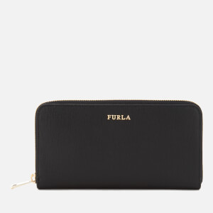 Furla Women's Babylon XL Zip Around Saffiano Bag - Black