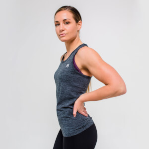 XS - Seamless Vest Tank Top - Charcoal