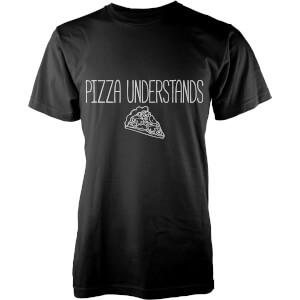 T-Shirt Homme Pizza Understands -Noir