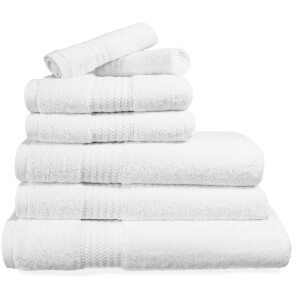 Restmor 100% Egyptian Cotton 7 Piece Supreme Towel Bale Set (500gsm) - White