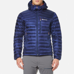 Montane Men's Featherlite Down Jacket - Antarctic Blue/Tangerine