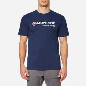 Montane Men's Logo T-Shirt - Antarctic Blue/White