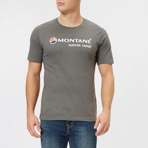 Montane Men's Logo Short Sleeve T-Shirt - Stratus Grey/Inca Gold