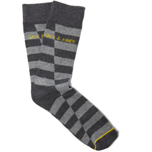 Jack & Jones Men's Leonardo 5 Pack Socks - Grey - One Size