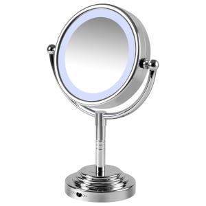 Carmen Dual Sided LED Illuminated Mirror - Silver