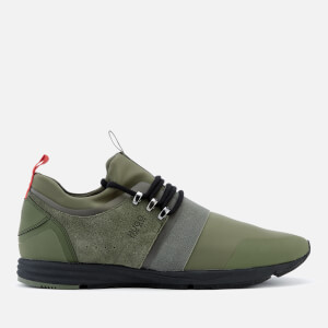 HUGO Men's Hybrid Runner Trainers - Dark Green