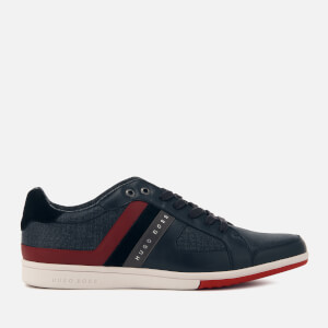 BOSS Green Men's Metro Club Low Top Trainers - Dark Blue