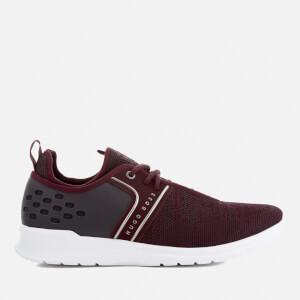 BOSS Green Men's Extreme Knitted Runner Trainers - Dark Red