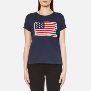 Polo Ralph Lauren Women's Short Sleeve Flag T-Shirt - Classic Royal