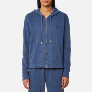 Ralph Lauren Women's Hooded Full Zip Sweatshirt - Shale Blue Heather